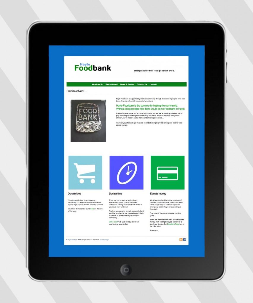 hayle food bank ipad website