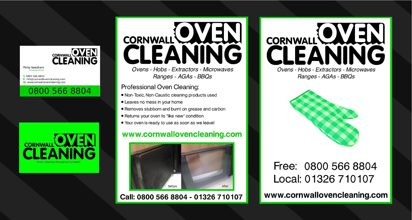 oven cleaning printed materials