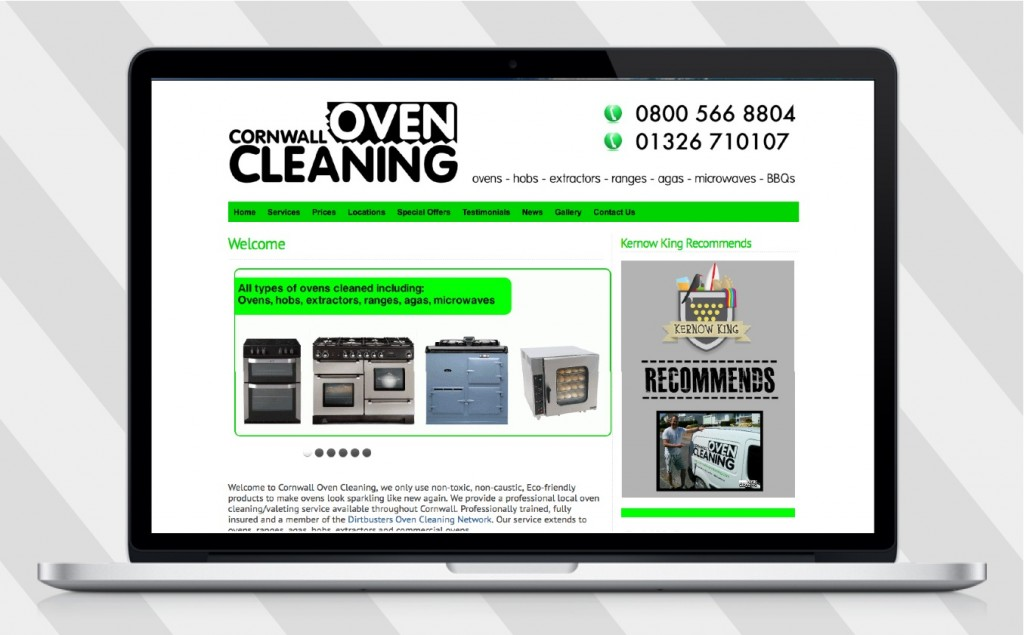 cornwall oven cleaning desktop website