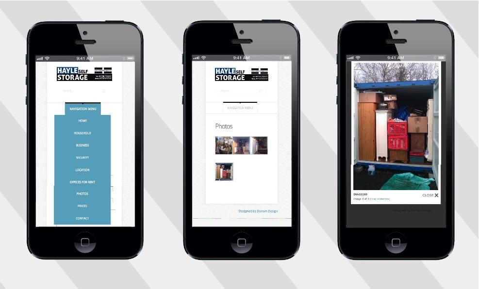 self storage website mobile