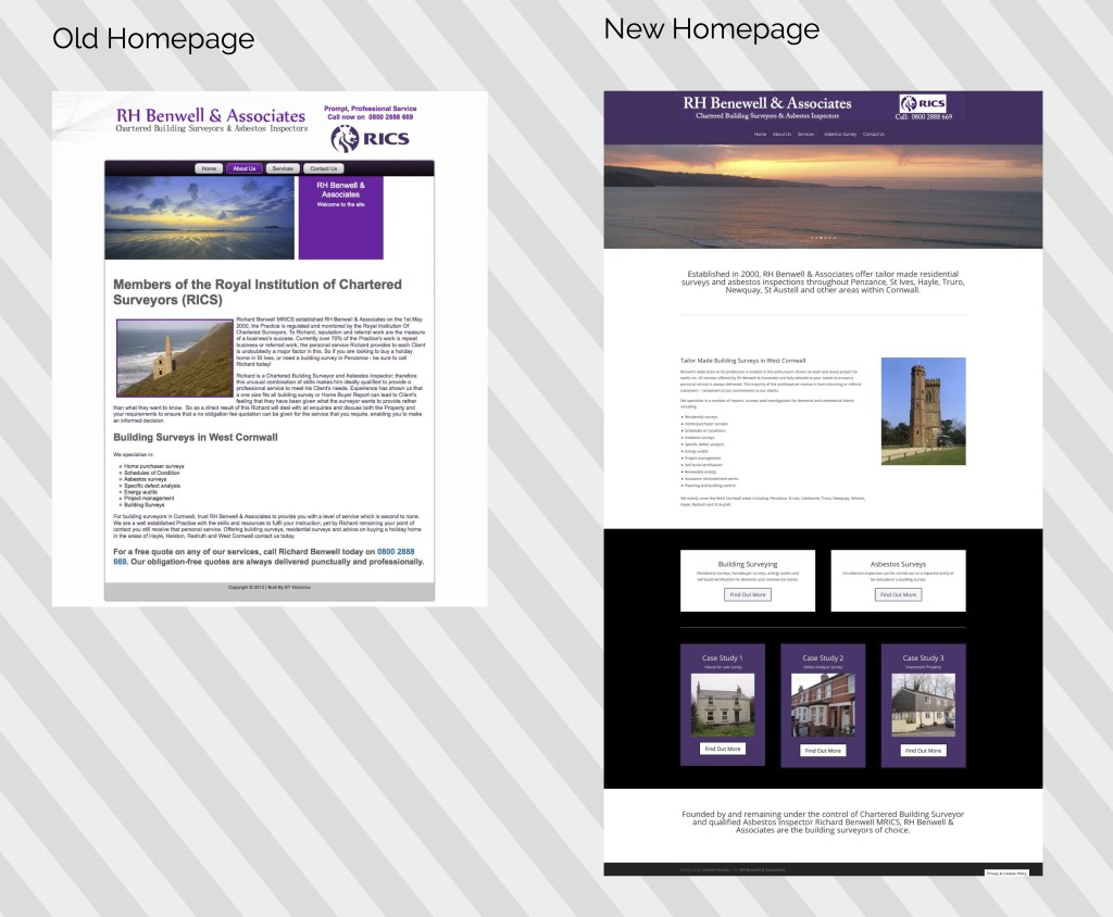 samll business website redesign cornwall