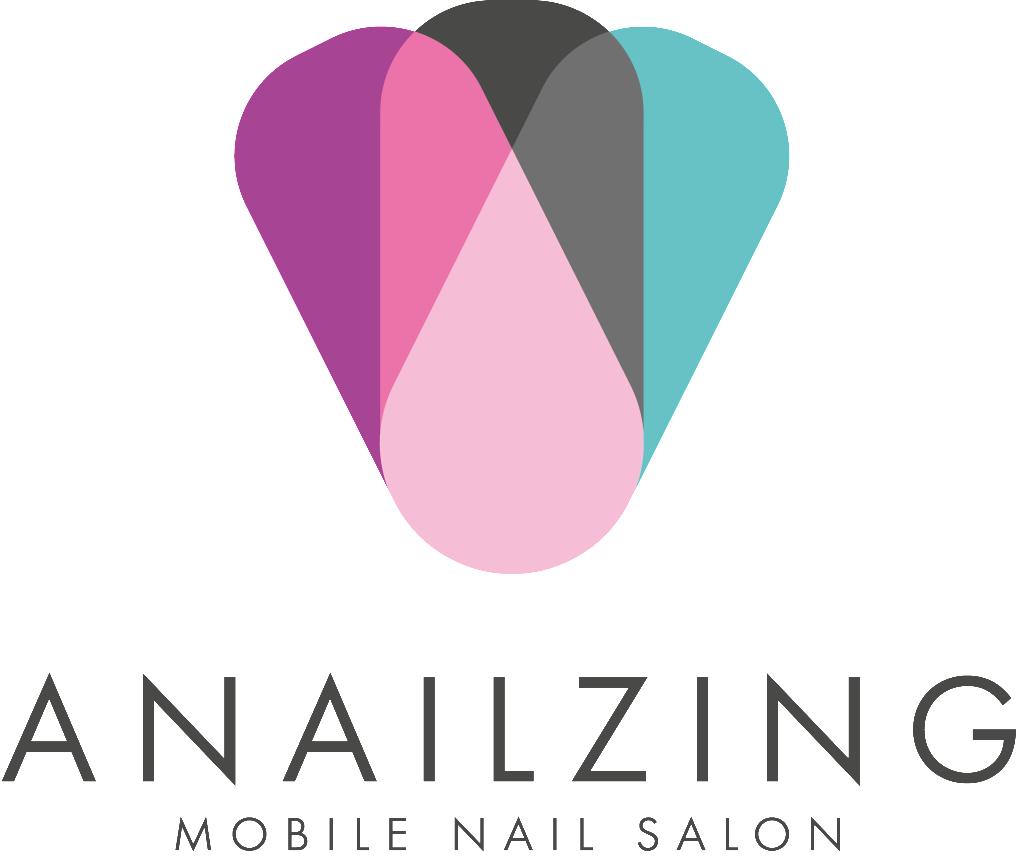 anilzing mobile nail logo design