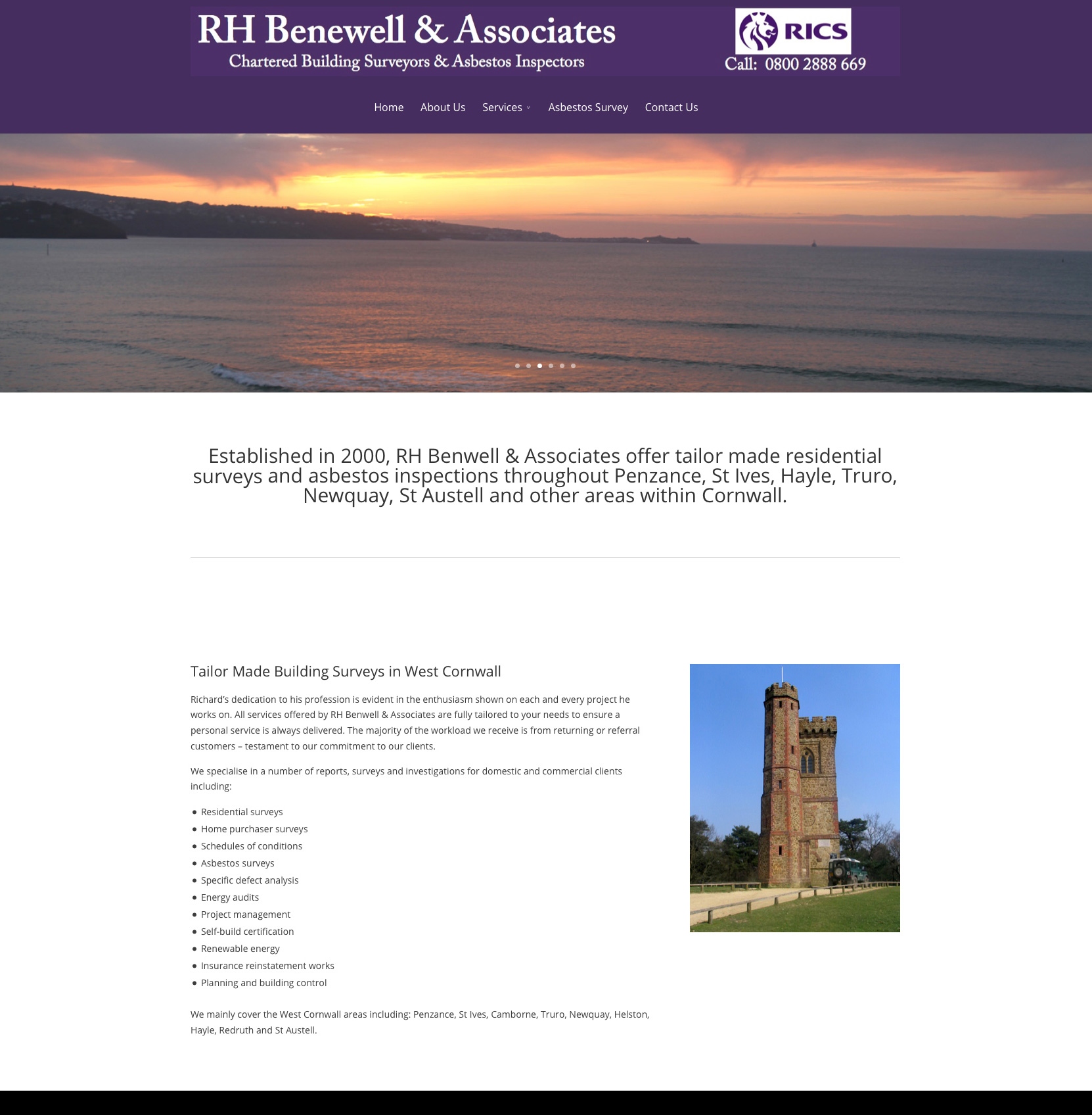 Building Surveyor Cornwall Website Redesign